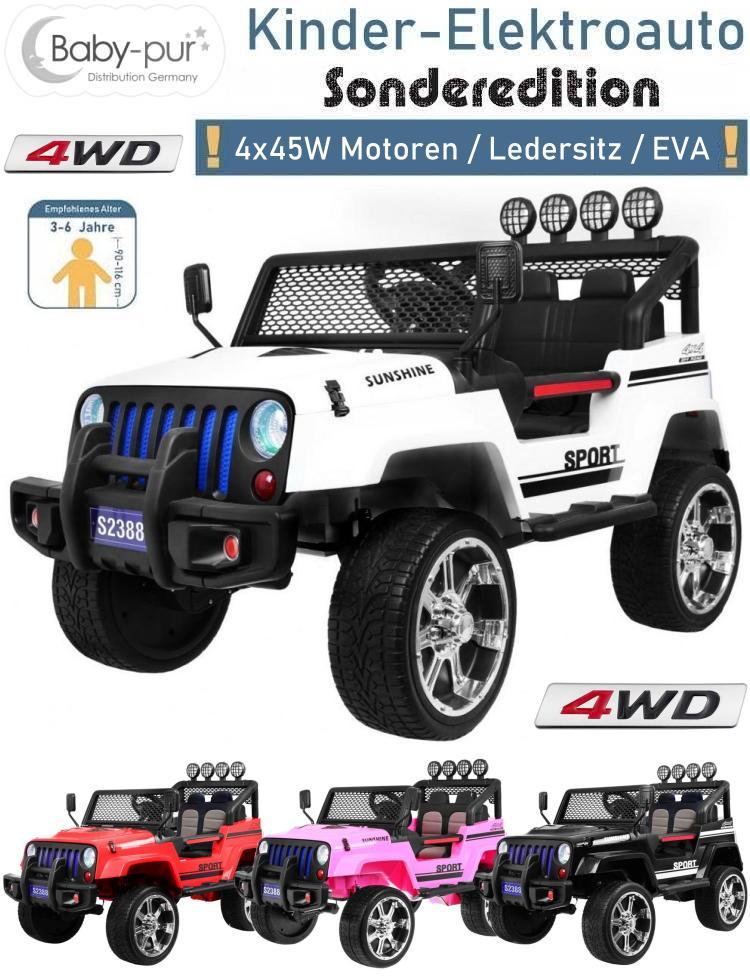 Kinder Elektroauto Geländewagen 4WD EVA Ledersitz