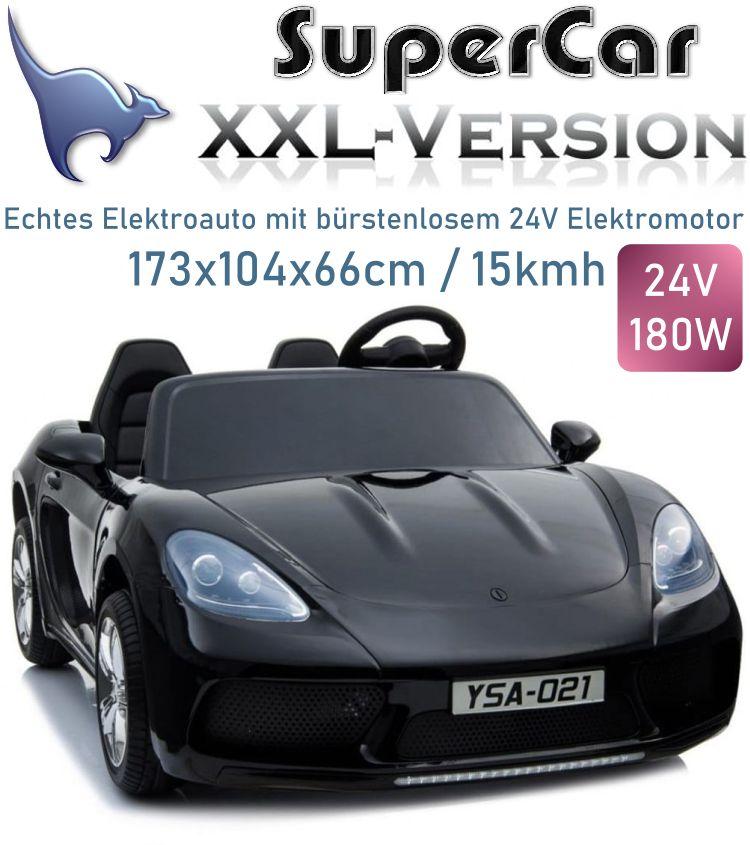 Elektrisches Kinderauto XXL Supercar Sportcar 2-Sitzer 24V