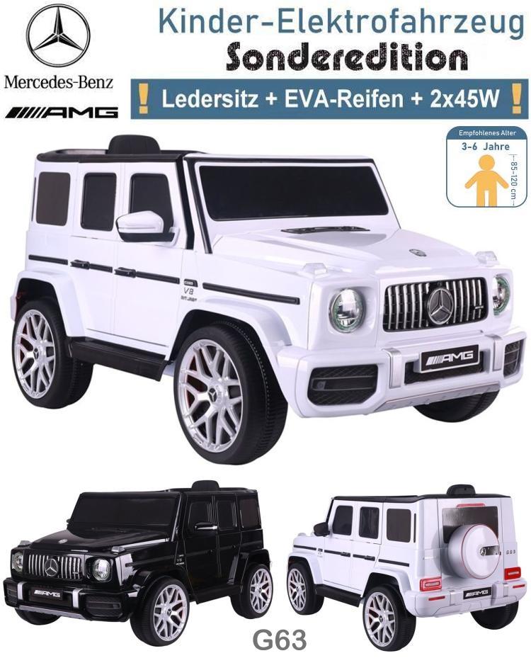Kinder Elektrofahrzeug Mercedes G63 EVA Ledersitz