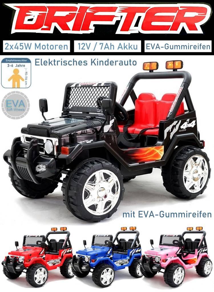 Kinder Elektroauto Drifter Geländewagen EVA