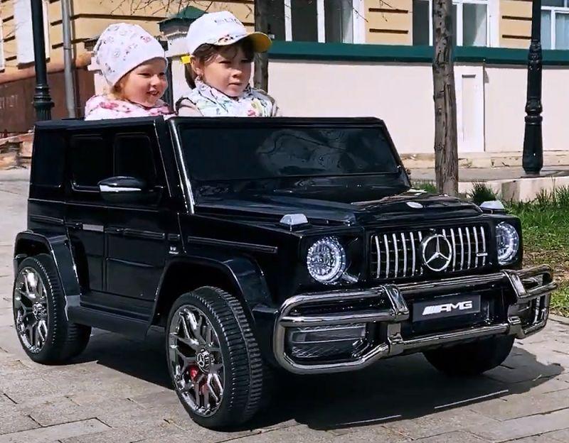 Elektroauto für Kinder Mercedes G63 Platinum Sonderedition Zweisitzer
