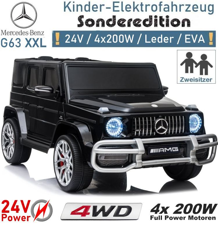 Kinder Elektrofahrzeug Mercedes G63 Platinum XXL 24V Zweisitzer