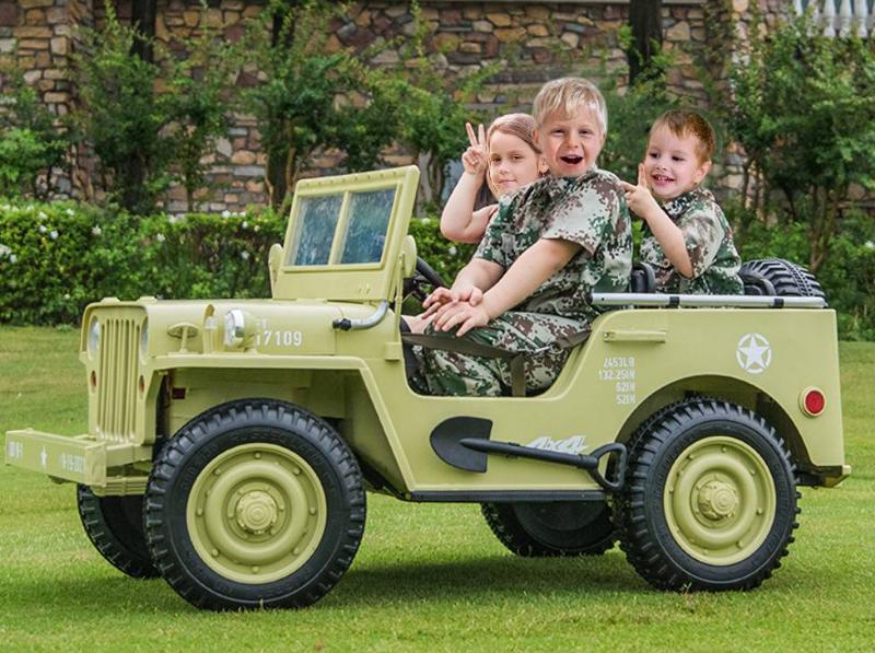 Elektroauto Military für Kinder Allradantrieb 4WD Geländewagen Sonderedition