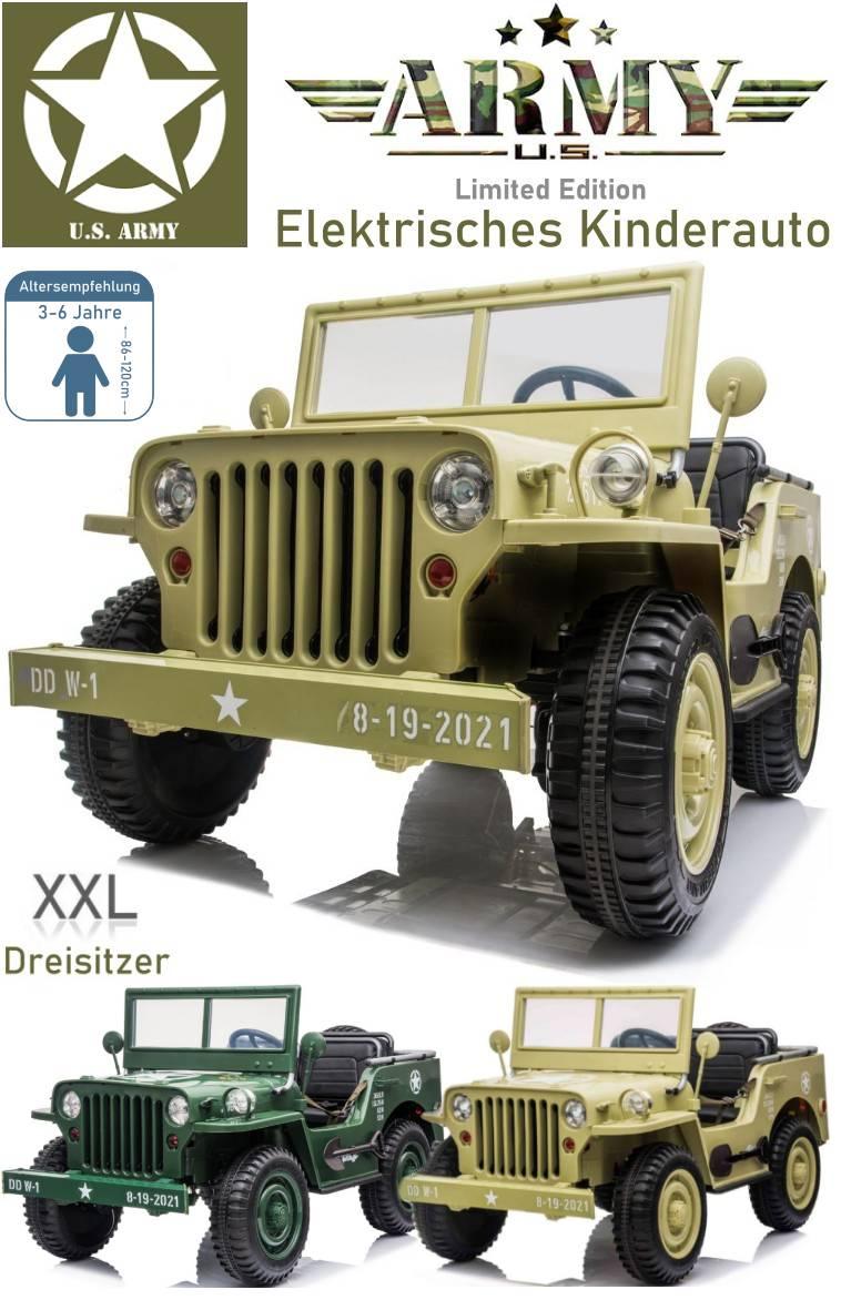 Elektrisches Kinderauto Geländewagen Military