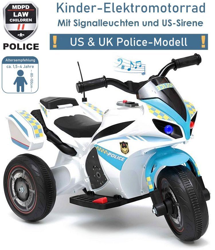 Elektrisches Kinderfahrzeug Elektromotorrad Polizeimotorrad