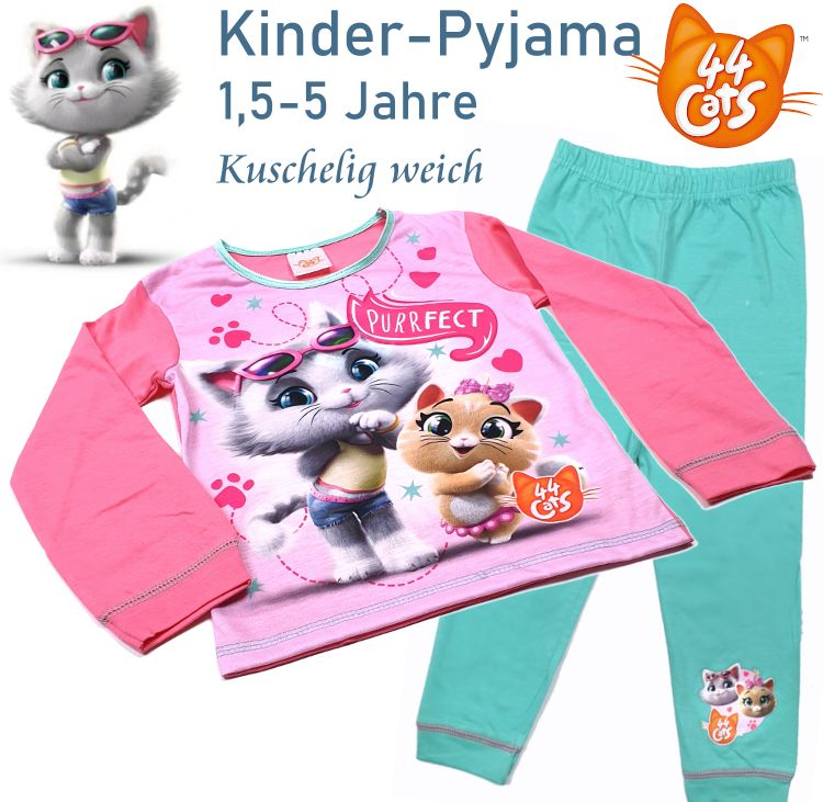 Kinder Pyjama Schlafanzug 44 Cats