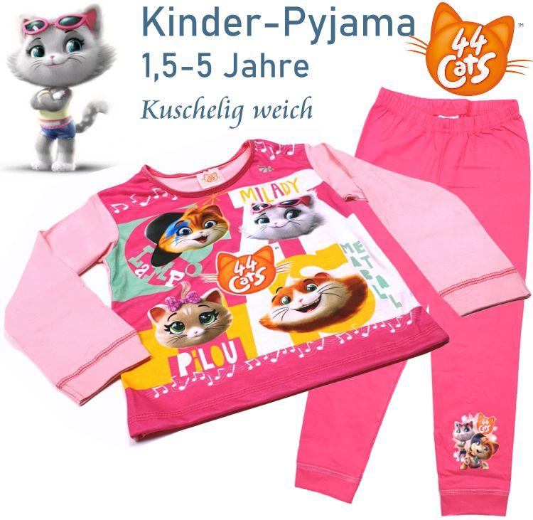 Kinder Pyjama Schlafanzug 44 Cats Milady