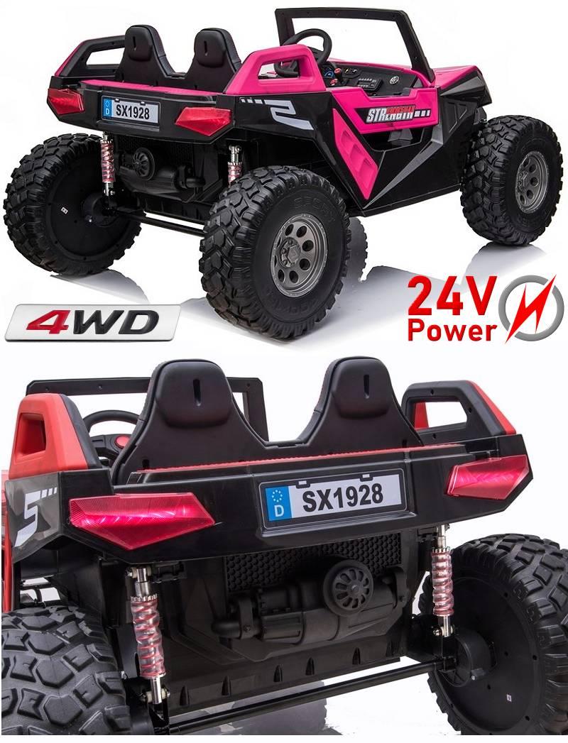Kinder Elektroauto mit Ledersitz und EVA-Rädern 2x12V Akku A730-2