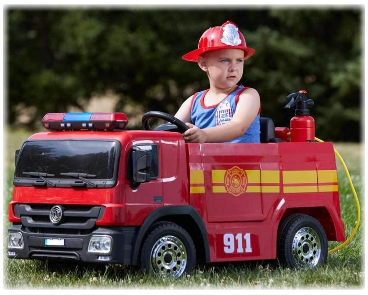 Elektrisches Kinderauto Feuerwehrauto mit Zubehör