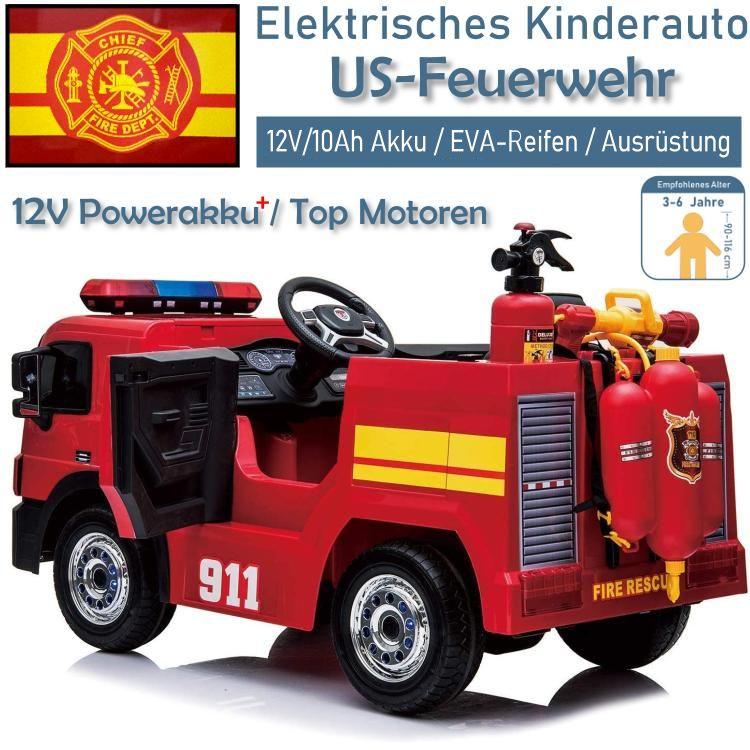 Kinder Elektroauto Feuerwehrauto