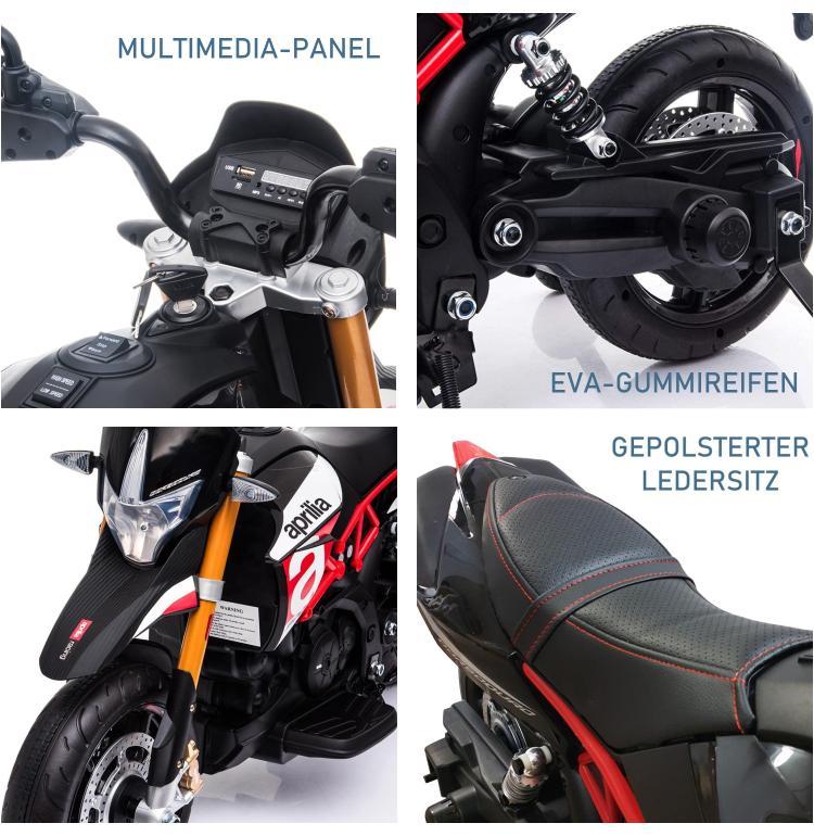 Elektrisches Kindermotorrad Aprilia Dorsoduro 900SE