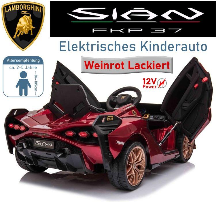 Kinder Elektrofahrzeug Lamborghini SIAN Elektroauto