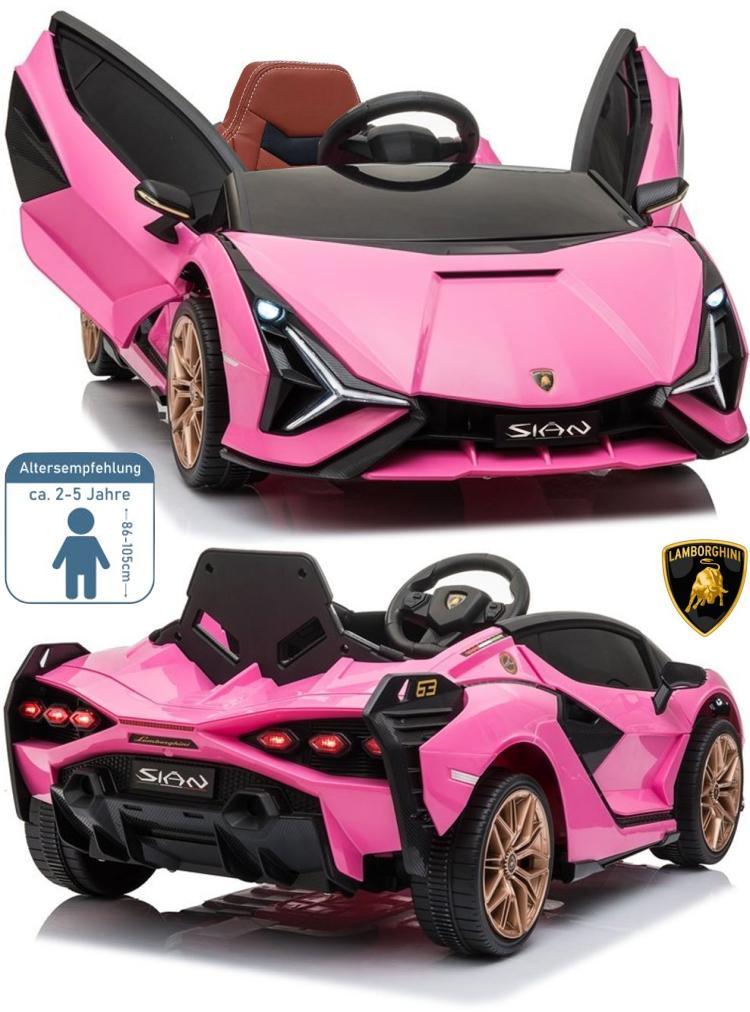 Lamborghini SIAN rosa Elektro Auto für Kinder
