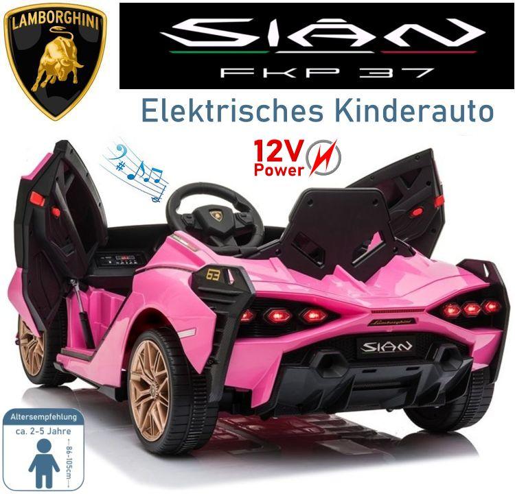 Kinder Elektrofahrzeug Lamborghini SIAN Elektroauto rosa