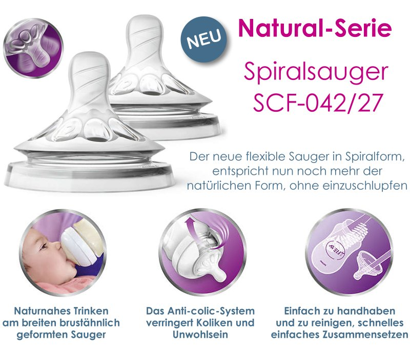 Philips Avent Natural Baby-Flaschen Naturnah blau