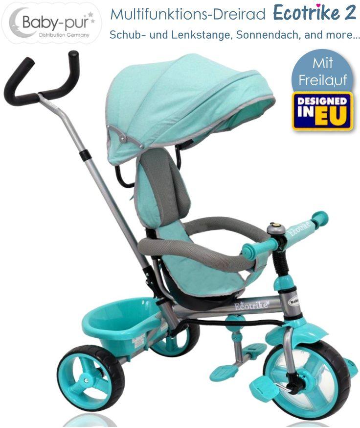 Baby-pur Schiebe-Dreirad Ecotrike-2