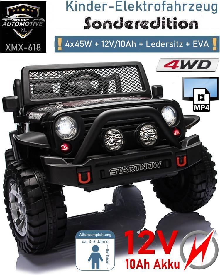 Kinder Elektroauto Geländewagen XMX618 EVA Ledersitz 4x4 Videoplayer