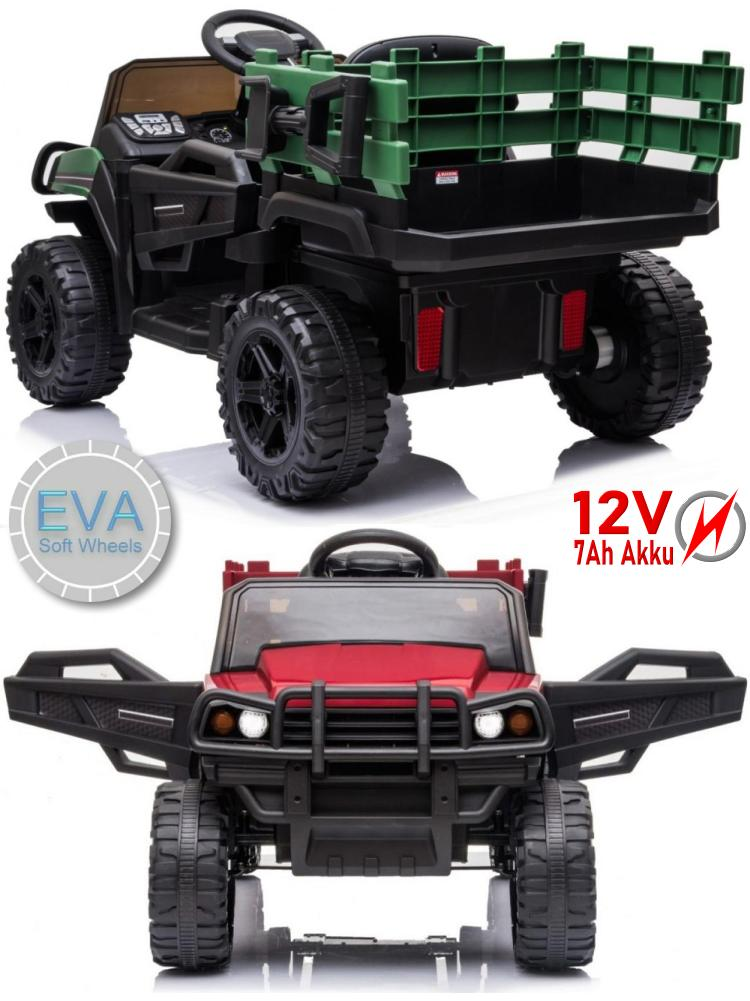Kinder Elektroauto mit Ledersitz und EVA-Rädern 12V Akku BDM0926
