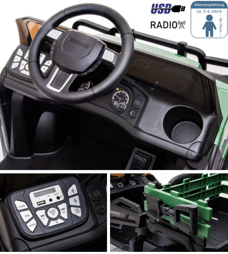 Farmer Pick-up Elektroauto für Kinder Geländewagen BDM0926