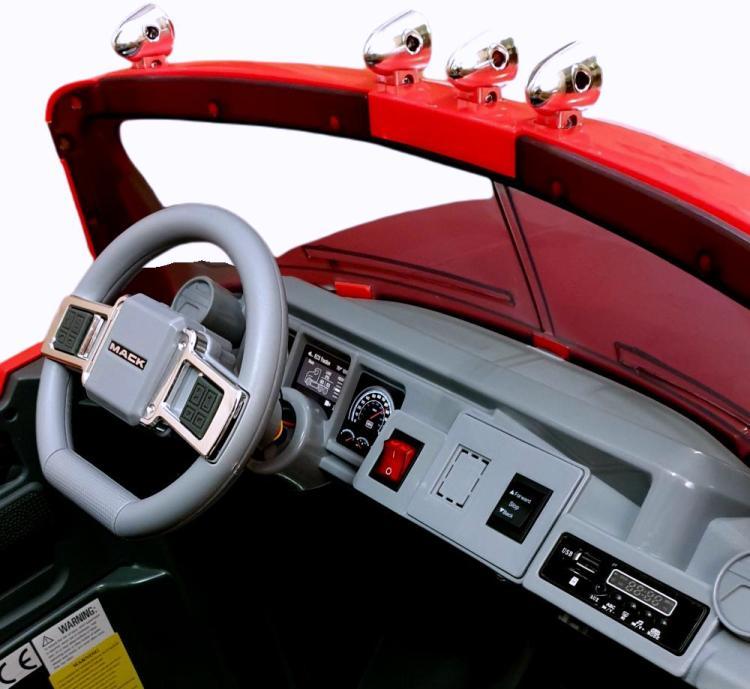 Elektro Auto Mack Kipper LKW für Kinder