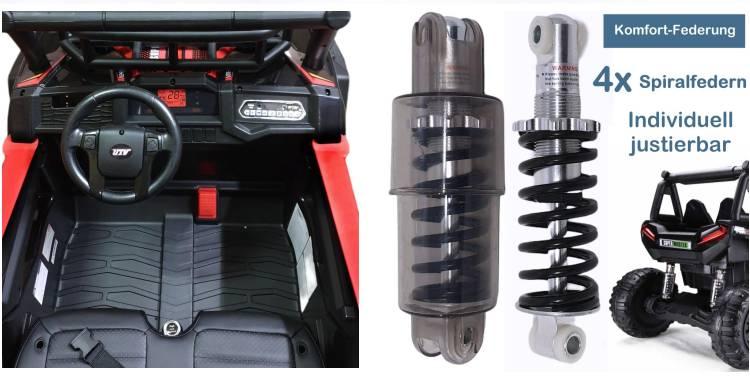 Zweisitzer Elektroauto für Kinder Geländewagen JS360