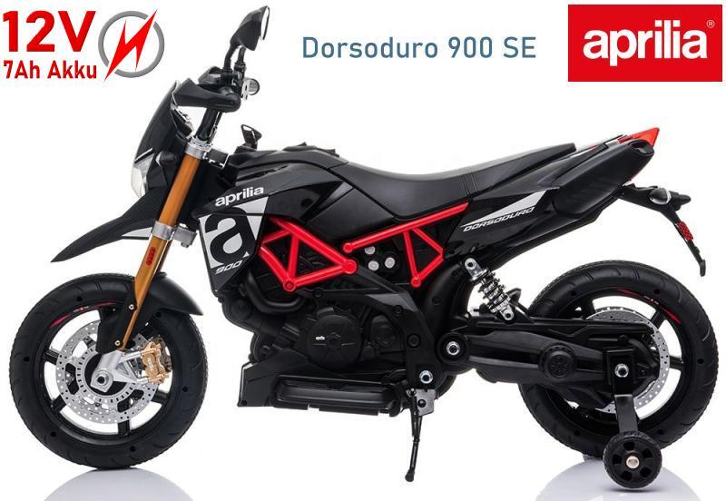 Elektromotorrad Aprilia für Kinder E-Trike Dorsoduro 900SE