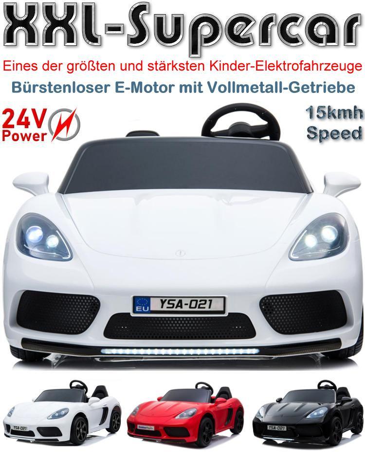 Kinder Elektroauto Supercar YSA-021 Perfecta XXL bürstenloser 24V-Motor