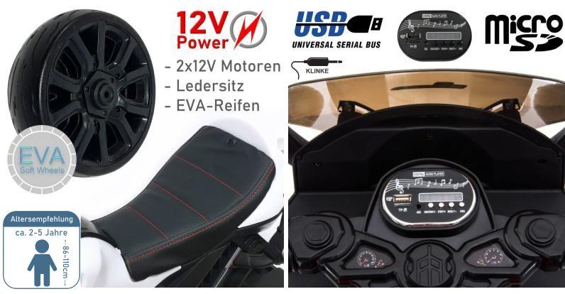 Elektromotorrad für Kinder LQ-168A
