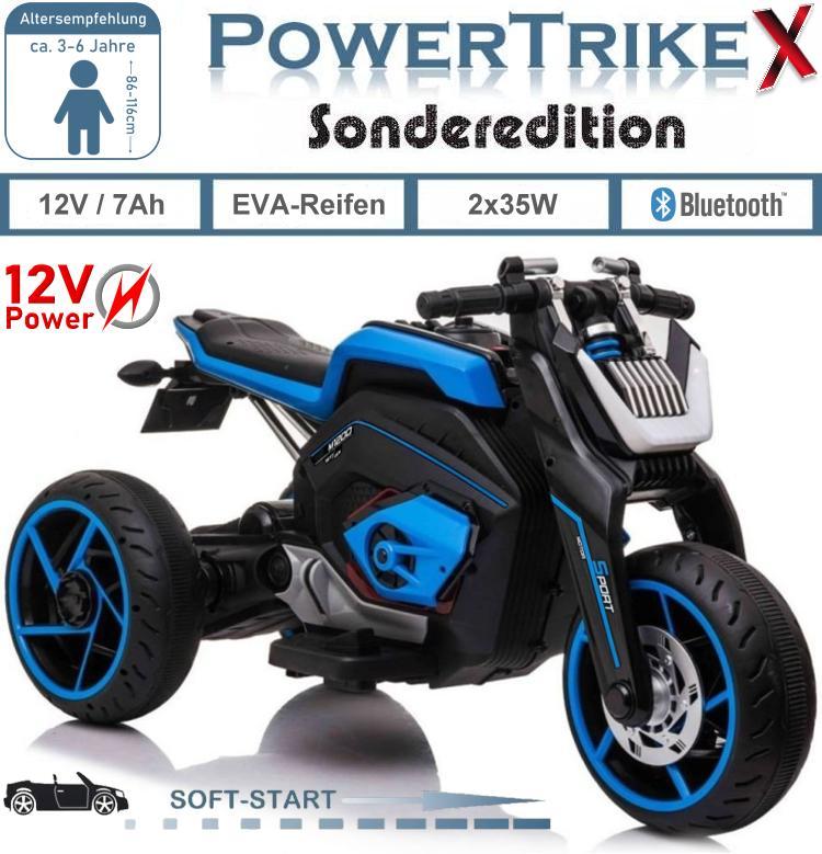 Kinder Elektrofahrzeug Elektrisches LL8001 PowerTrike-X