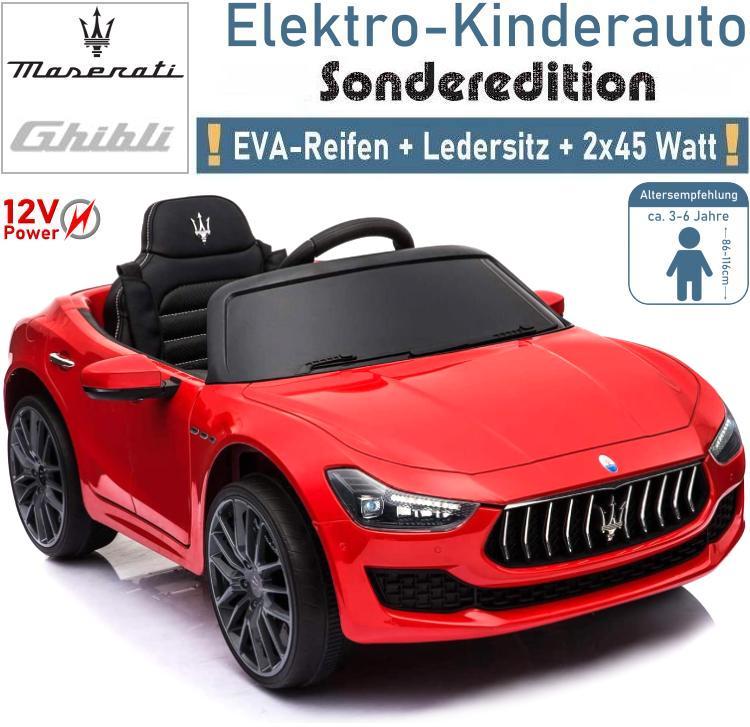 Kinder Elektrofahrzeug Maserati Ghibli Elektroauto rot