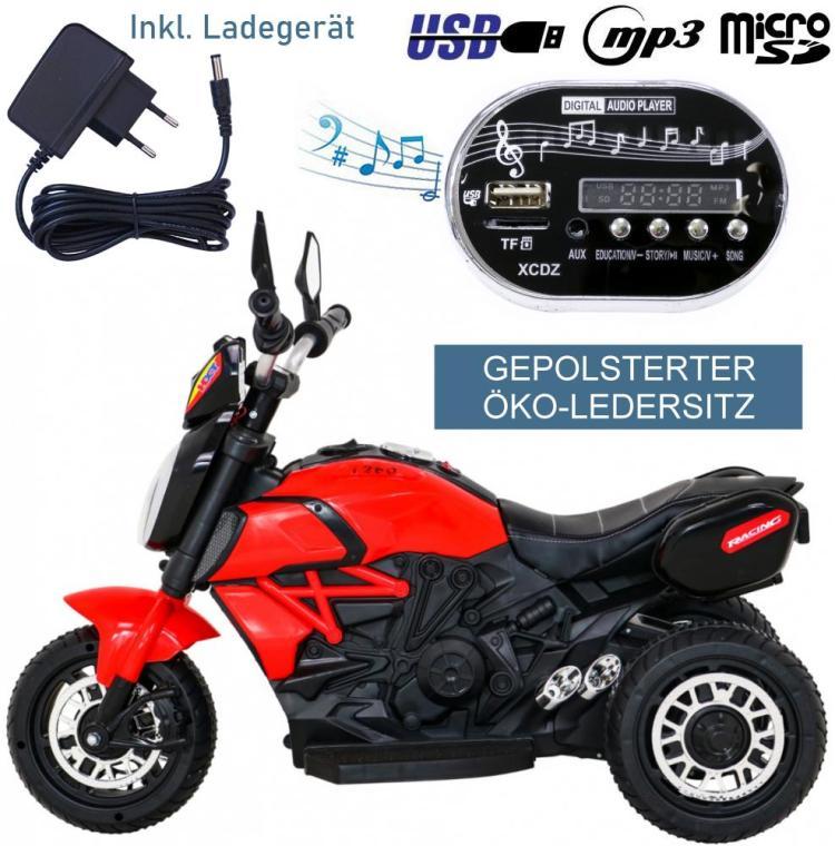BLJ818 Elektrisches Kinderfahrzeug E-Trike Motorrad
