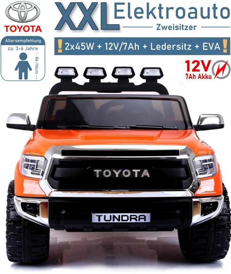 Kinder Elektroauto Toyota Tundra XXL Geländewagen Zweisitzer