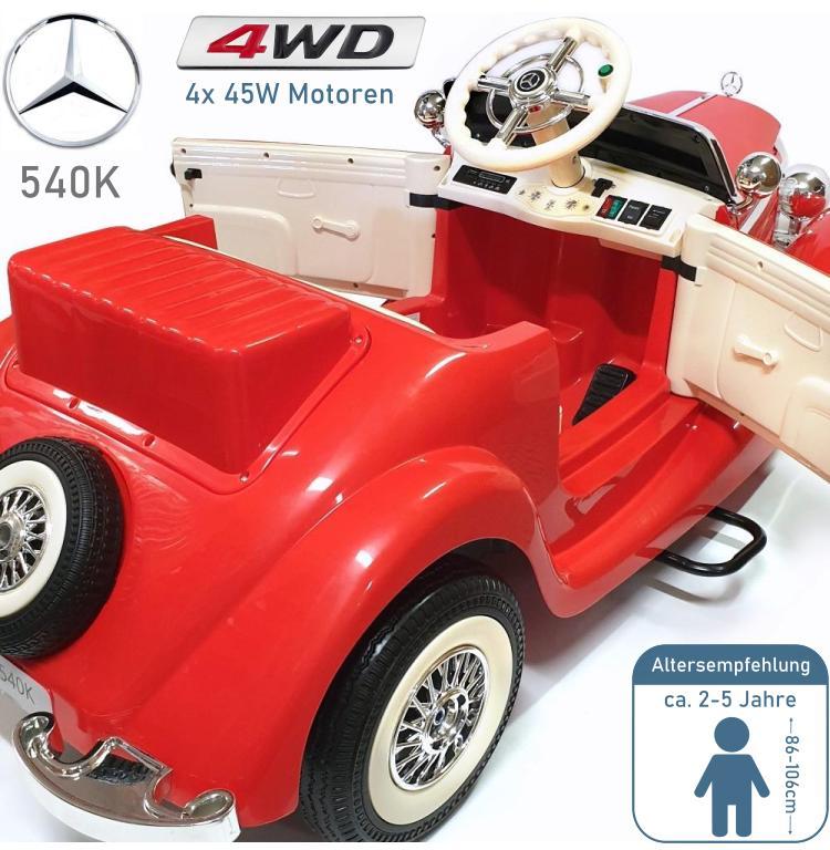 Mercedes Benz Oldtimer 540K Kinder Elektroauto