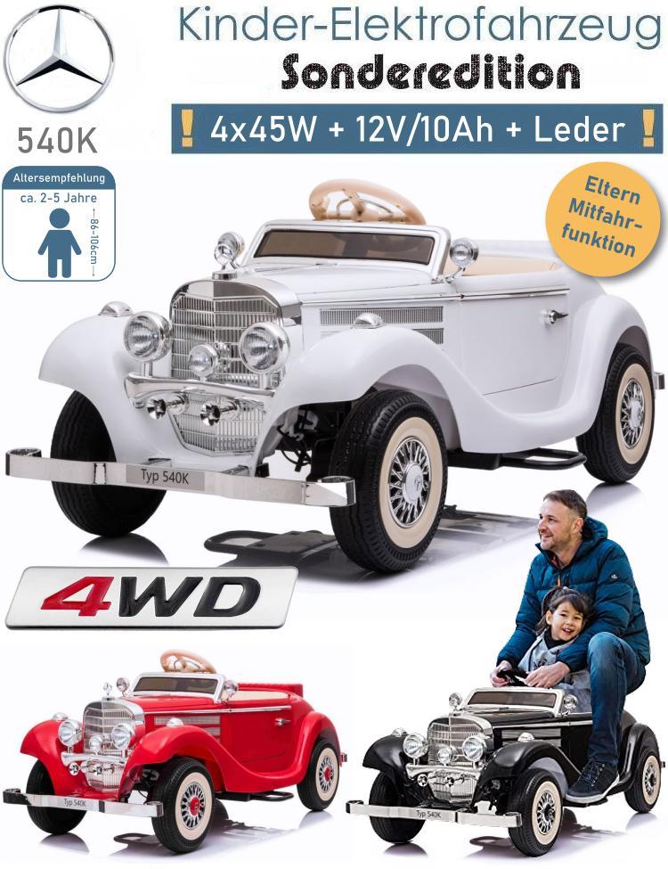 Elektrisches Kinderauto Mercedes Benz 540K Oldtimer
