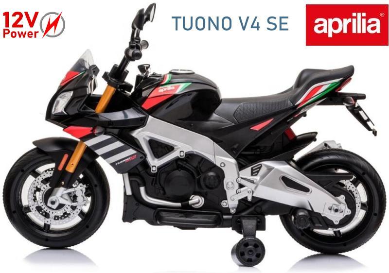 Elektromotorrad Aprilia für Kinder E-Trike Tuono V4