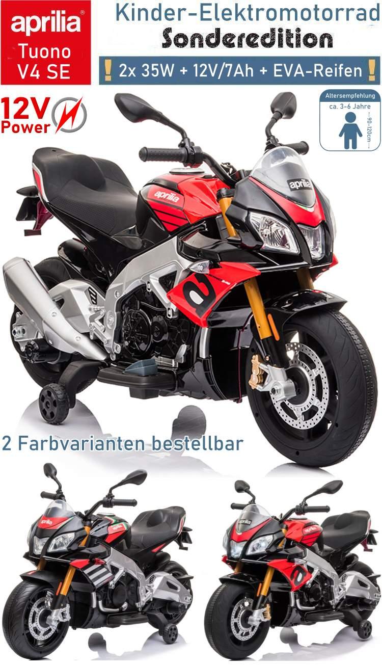 Kinder Elektrofahrzeug Elektrisches Motorrad Aprilia Tuono V4