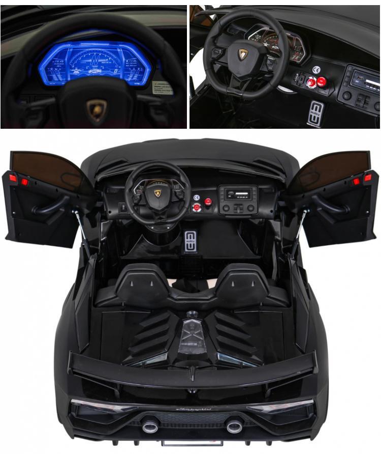 Drift Elektroauto fr Kinder Lamborghini Aventador Hells-Version 24V 2x350W
