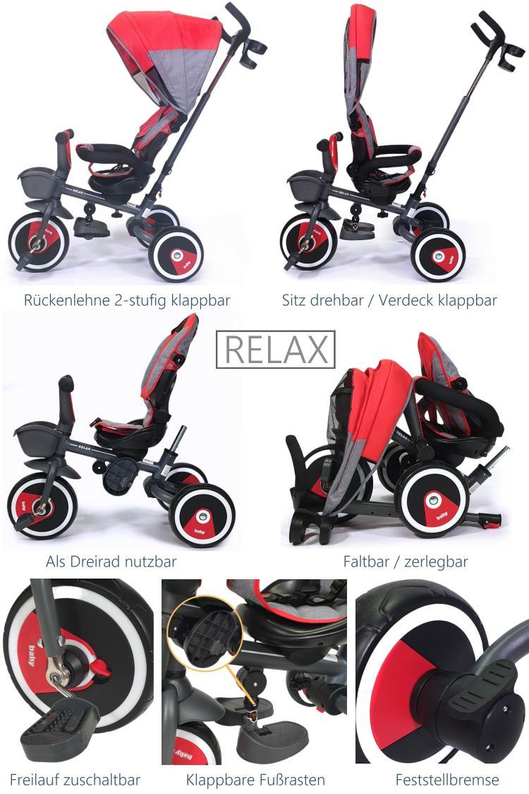 Baby-pur RELAX Kinderdreirad zum schieben