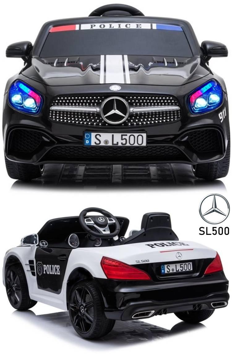 Kinder Elektro Polizeiauto Mercedes Benz SL500