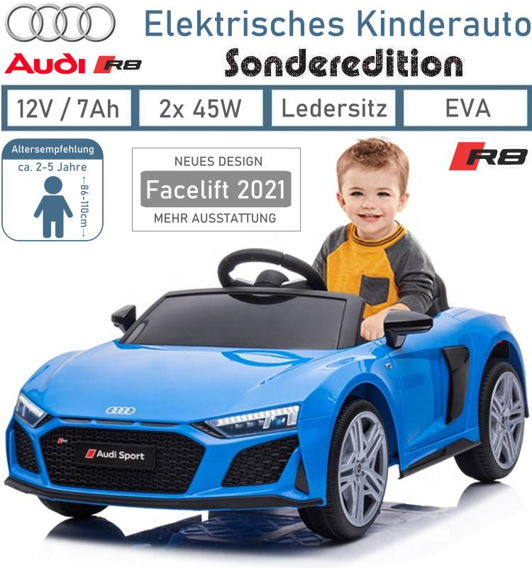 Kinder Elektrofahrzeug Audi R8 Coupe V10 Facelift Elektroauto
