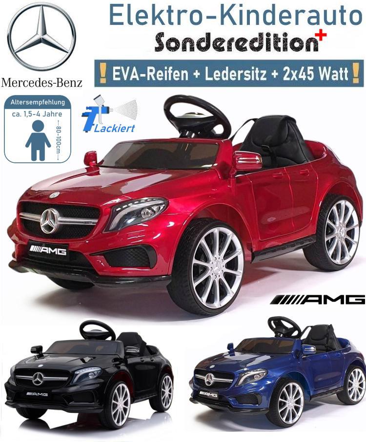 Kinder Elektrofahrzeug Mercedes Benz GLA 45 lackiert Elektroauto