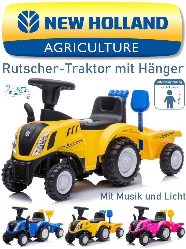 Kinder Rutscher Traktor New Holland