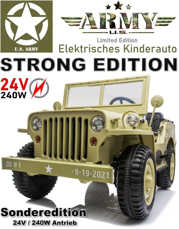 Kinder Elektroauto Geländewagen Military Militärfahrzeug JH-101 24V