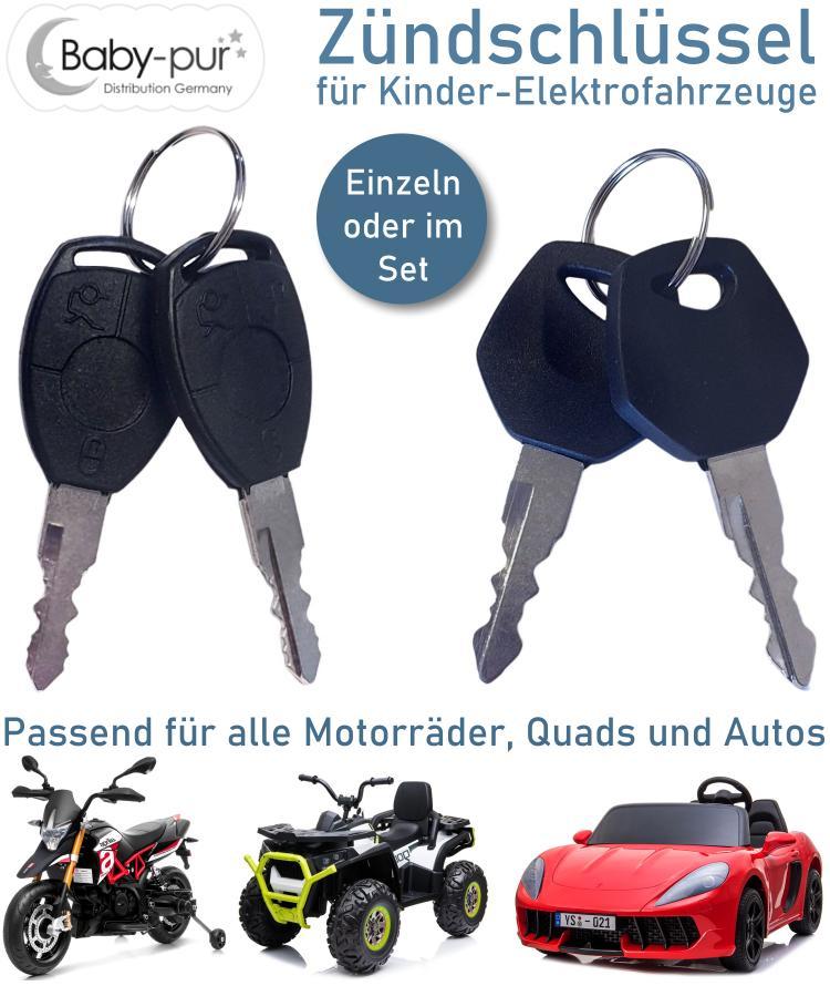 Zündschlüssel Ersatzschlüssel für Kinder Elektrofahrzeuge