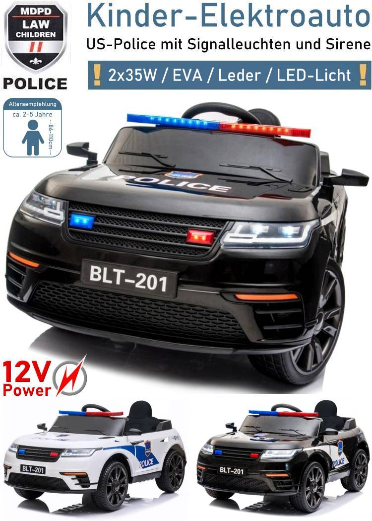 Kinder Elektrofahrzeug Police Polizei Elektroauto SUV BLT-201