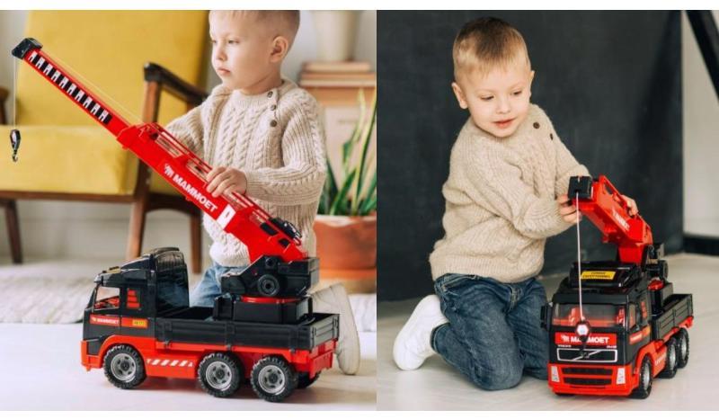 Kinder Spielzeug XL LKW Kran Volvo FH12 Mammoet Polesie