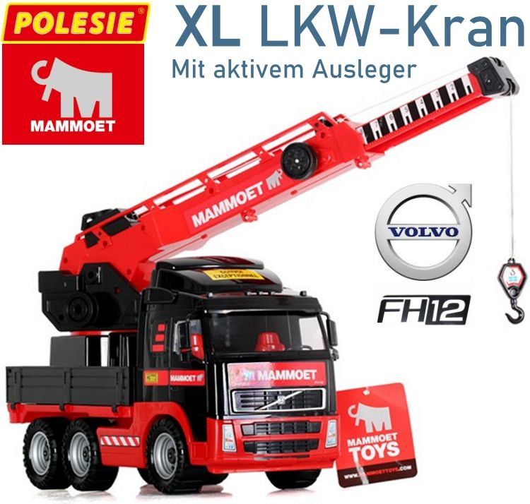 Kinder Spielzeug XL LKW Kran Volvo Mammoet