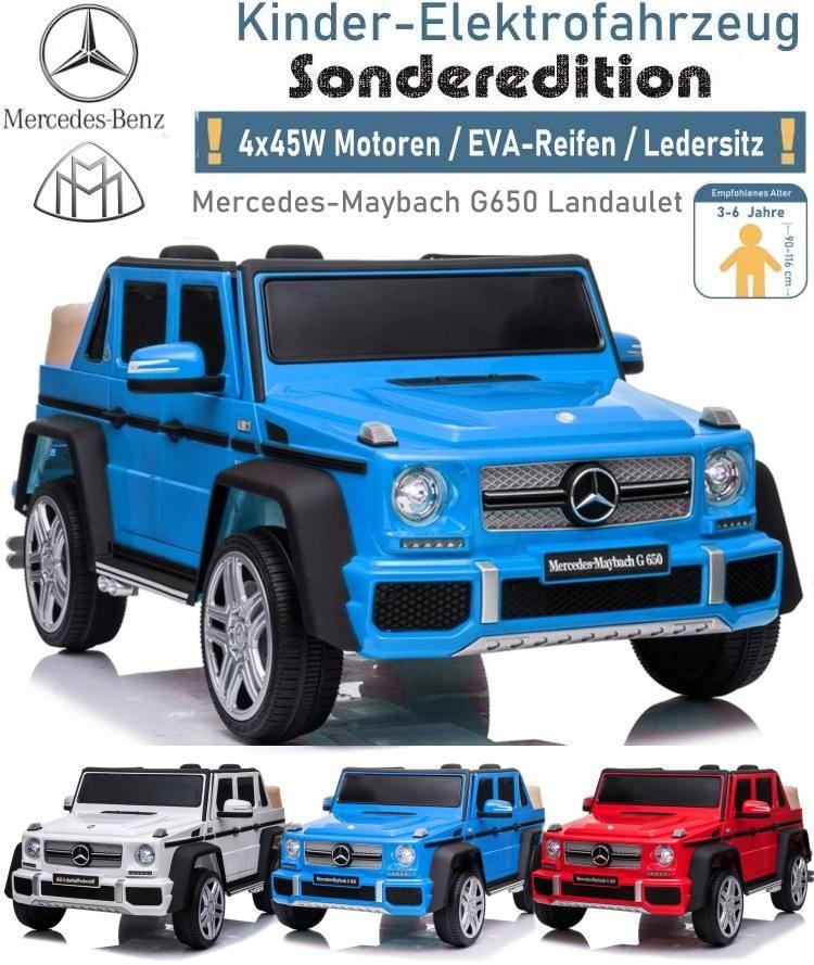 Kinder Elektroauto Mercedes Maybach G650 Landaulet EVA Ledersitz