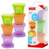 NUK: Food Pots 6x Gefrierdosen für Babynahrung inkl. Deckel
