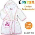 Costex: Kinder-Bademantel weiß/rosa